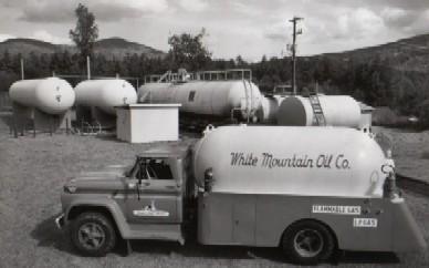 Vintage propane truck