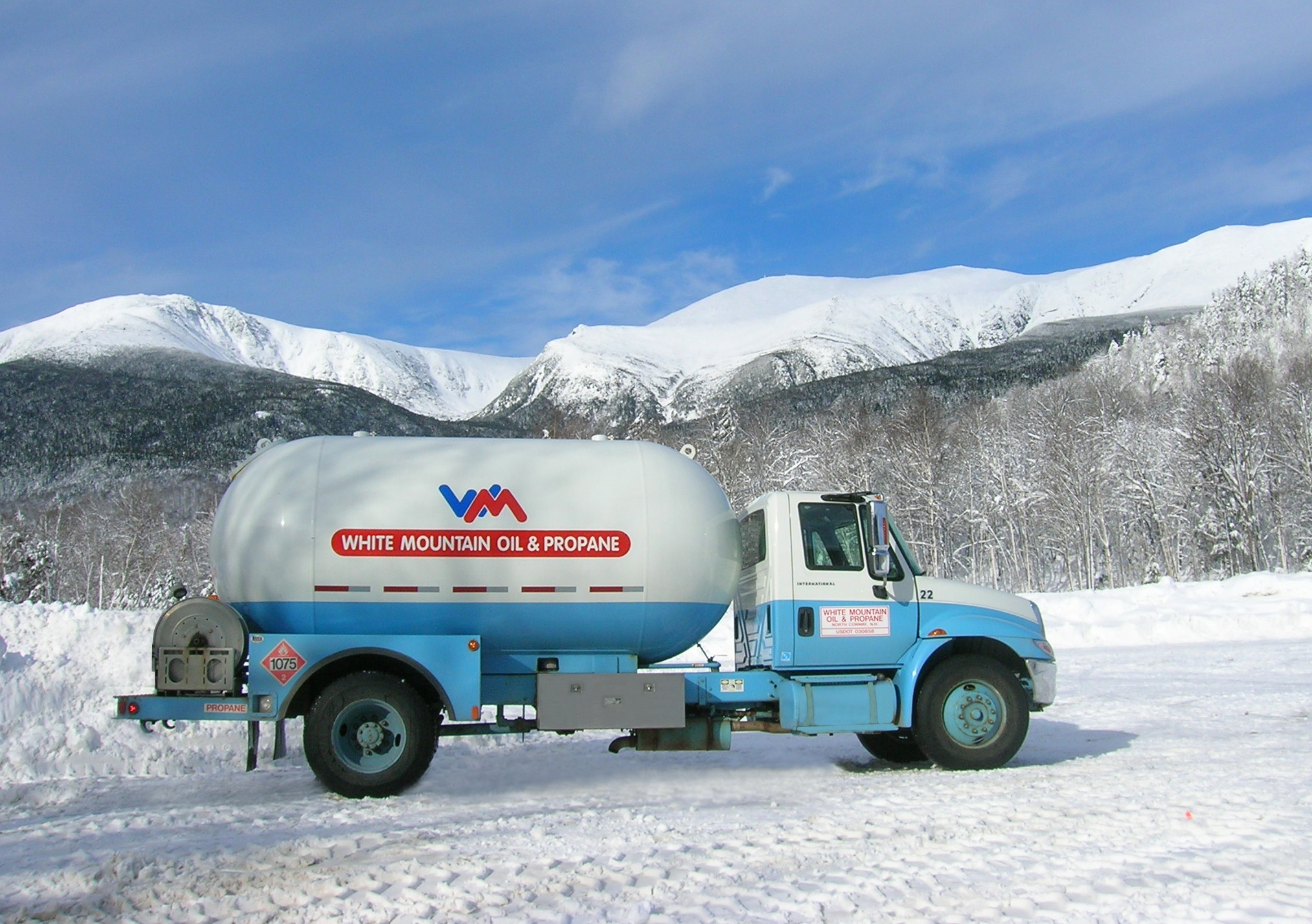 Propane Delivery truck in Pinkham Notch